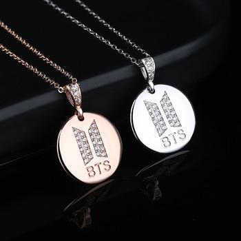 BTS Sparkling Logo Pendant Necklace