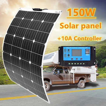 NEW 150W Flexible Solar Panel with 20A Controller No Inverter