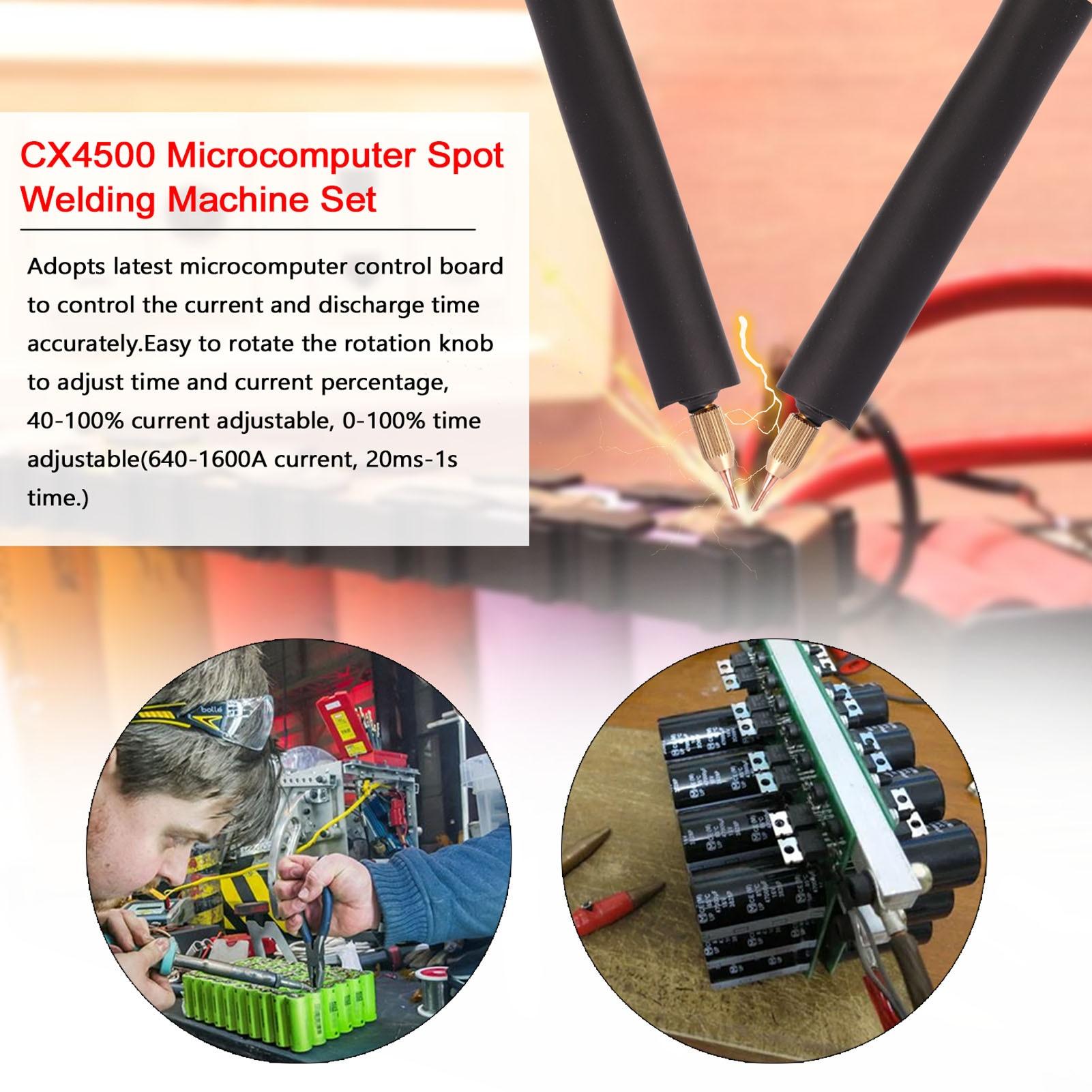 home improvement : 220V 110V Microcomputer Spot Welding Machine Set 20ms-1s Time Adjustable 640-1600A Current for 0 25mm Nickel-clad Steel Plate