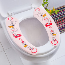 1Pair Toilet Seat Cover Warm Soft Toilet Seat Pad Washable Healthy Sticky Toilet Mat Cushion Seat Cover Pad Bathroom Accessories round bathroom adult toilet seat with built in child potty training seat elongated white toilet seat cover bathroom accessories