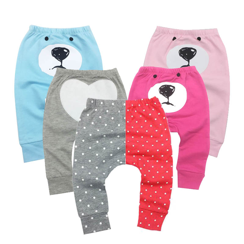 Boys Baby Girl Pants Kids Casual Harem PP Trousers Knitted Cotton Unisex Toddler Baby Leggings Pants Panties For Newborns