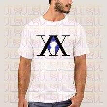 Mais novo 2020 verão japão anime hunter x hunter silva zoldyck logotipo 100% algodão streetwear camiseta homme topos tees S-4XL