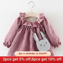 Melario Newborn Baby Girl Dress Autumn Princess Dresses for Kids Dress Cartoon Baby Dress With Bag Infant Clothing Toddler Dress