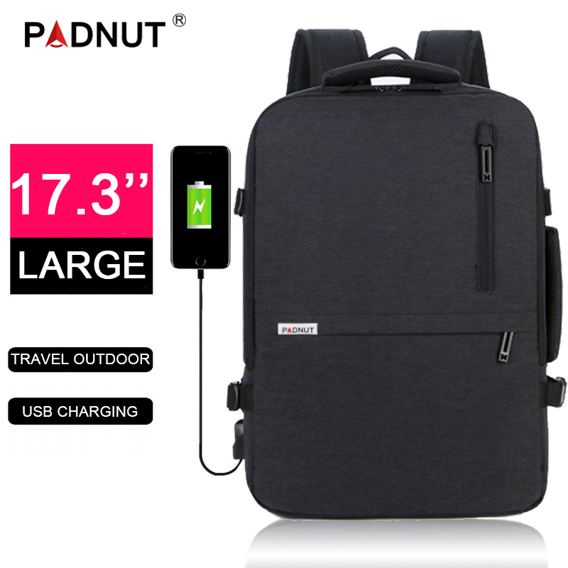 Anti Theft Laptop Backpack 17.3 Women Men Bagpack Mochila Notebook Male Backpacks 17 USB Charger Travel Business Back Pack Bags