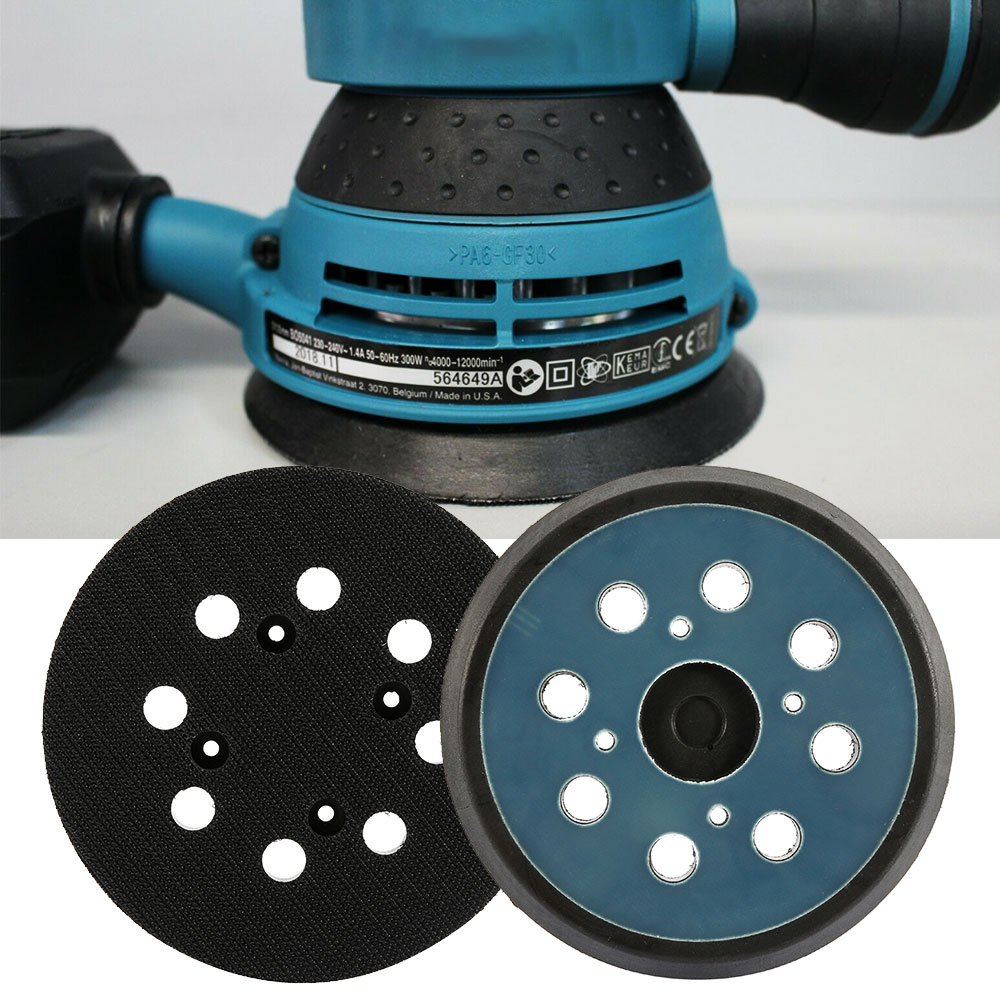5 Inch 8 Holes 125mm Hook Loop Sanding Backing Pad Electric Makita Orbital Sander Disk Discs Porter Cable Backup Stick On Pad
