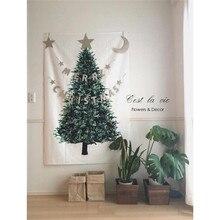 Ins Рождественская елка сосновая висячая ткань настенный Декор ткань Рождественское украшение для дома небольшой свежий праздничный фон простой гобелен