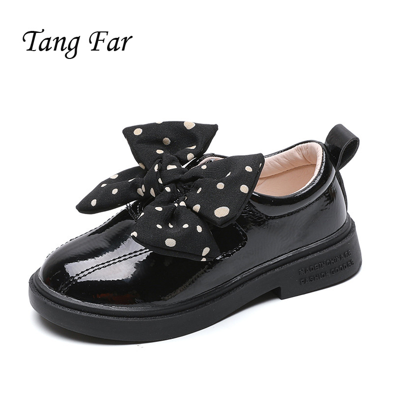 Children Kids Girls Party Dance Casual Footwear Teenage Breathable School Flat Shoes New Autumn Girls Leather Princess Shoes