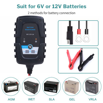 FOR FOXSUR 12V 5A Pulse Repair Charger with LCD Display Motorcycle Car Battery Charger 12V AGM GEL WET Lead Acid Battery Charger image
