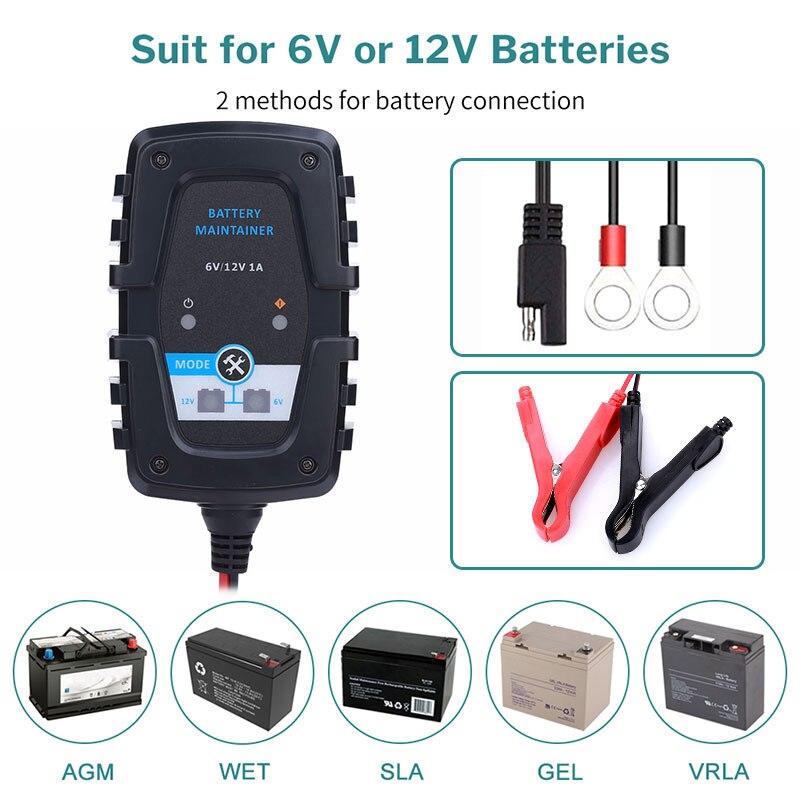 Ремонтное зарядное устройство FOXSUR 12 В 5A с ЖК дисплеем, автомобильное зарядное устройство для мотоцикла, 12 В, AGM, гелевое, свинцово Кислотное зарядное устройство| |   | АлиЭкспресс