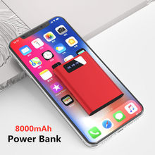 For iPhone/Xiaomi Mini Power Bank 8000mAh Portable Phone Battery Charger For iPhone/Samsung/Huawei Fast Charger External Battery(China)