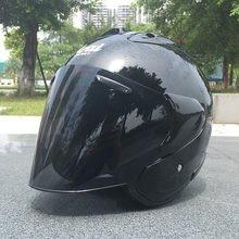 3/4 capacete metade preto meio aberto rosto capacete da motocicleta meio preto capacete aberto rosto capacete casque motocross capacete