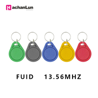 100pcs 13.56MHz Attendance Management Keychain ABS Waterproof IC M1 S50 Keyfobs Tags RFID Key Finder Badge Card Token