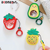 EKONEDA Liquid Glitter Protective Case For Airpods Strawberry Pineapple Avocado Silicone Cover For Airpods Case airpod pro shell