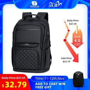 Image 1 - Homens Da Moda Mochila Multifuncional Bolsa Para Laptop À Prova D Água 15.6 Polegada Fenruien Carregamento USB Travel Bag Mulheres Mochila Casuais