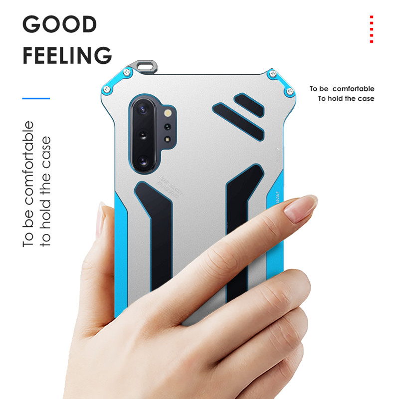 Image 5 - Металлический Чехол R Just Armor для samsung Galaxy Note 10 S10 S9 S8 Plus S10 Lite 5G противоударный чехол для Galaxy Note 8 9 S7 EdgeСпециальные чехлы   -