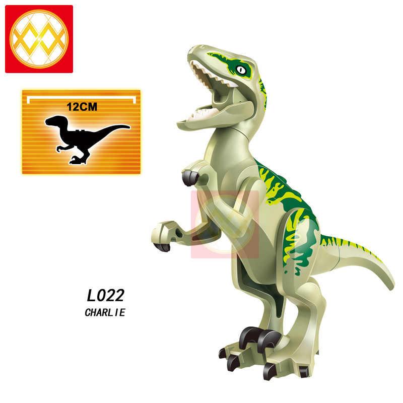 Singolo L028 Velociraptor Pteranodon Blu Charlie Eco Triceratops Dinosauri di Jurassic World Blocchi di Costruzione Per Bambini Giocattoli del Regalo