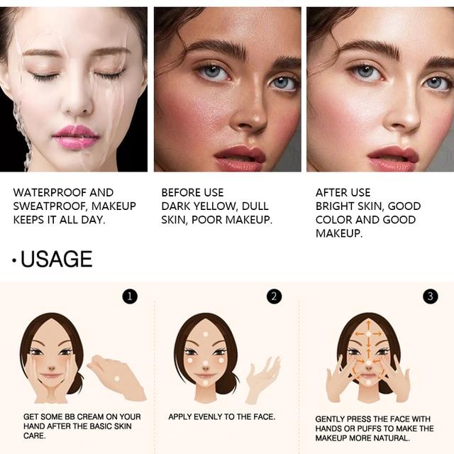 MIXDAIR Liquid Foundation Face Concealer 4 Colors Magical Makeup Base Primer BB Cream Full Cover Dark Eye Circle Hide Blemish 4