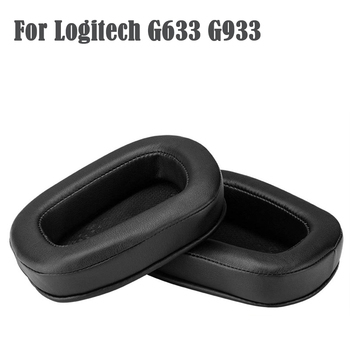 1Pair Ear Pads For Logitech G633 G933 Headphones Replacement Foam Earmuffs Cushion Accessories PU Soft Sponge Wholesale image
