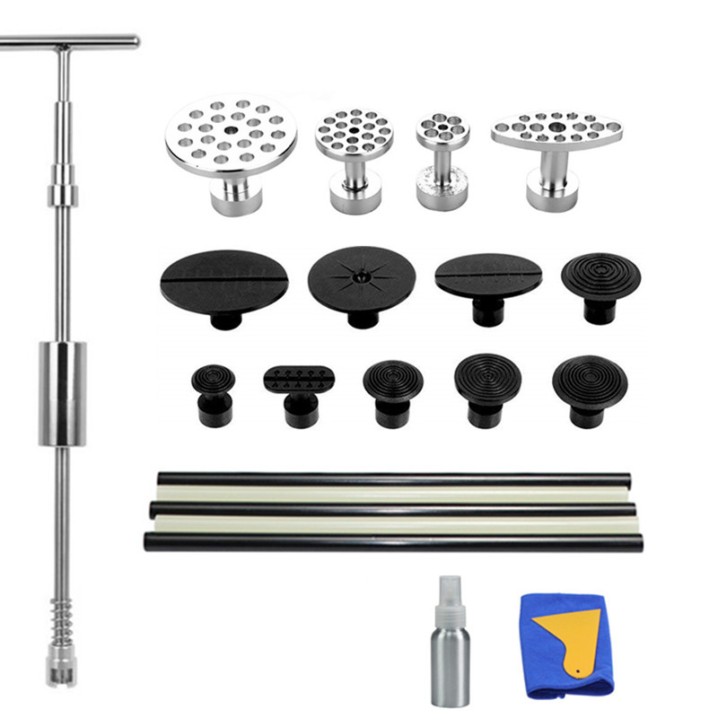 PDR Auto Repair Tool Paintless Dent Puller Car Removal Tool Slide Hammer Puller Tabs Suction Cup Hand Tools Kit