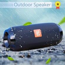 Haut-parleur Bluetooth Portable 20w, colonne de basses sans fil, étanche, pour l'extérieur, Support AUX TF, USB, caisson de basses stéréo