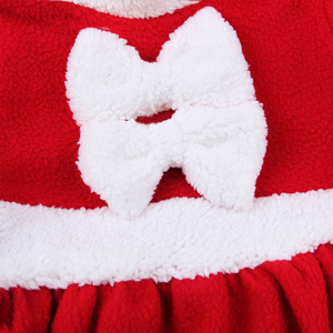 Рождественский маскарадный костюм Санта-Клауса; одежда с длинными рукавами для маленьких мальчиков; платье для маленьких девочек; милое зи...