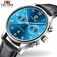 TEVISE Fashion Mens Watches Casual Leather Mechanical Men Watch Men Automatic Sport Wristwatch Male Clock Relogio Masculino 2017 carnival design mens automatic mechanical watches men military sport luminous watch male clock wristwatch relogio masculino