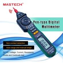 MASTECH MS8212A Pen tipo Multímetro Digital Multimetro DC Voltaje AC Corriente Tester Diodo Continuidad Lógica de Tensión Sin contacto