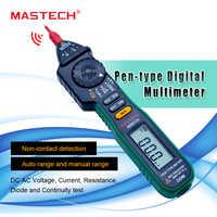 MASTECH MS8212A Pen type Multimètre Numérique Multimetro DC AC Tension Courant Testeur de Diodes Continuité Logique Non-contacter Tension
