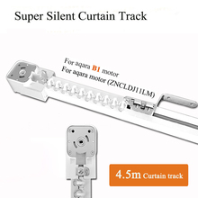 4.5m Electric Curtain track for Aqara Curtain/ B1 motor/Dooya Curtain motor For Customizable Curtain Rail system For Smart Home
