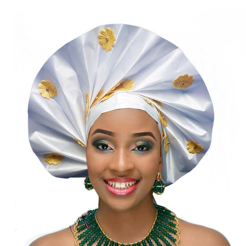 2018 Already Tied Gele Wholesale Sego African Headtie For Bridal And Party