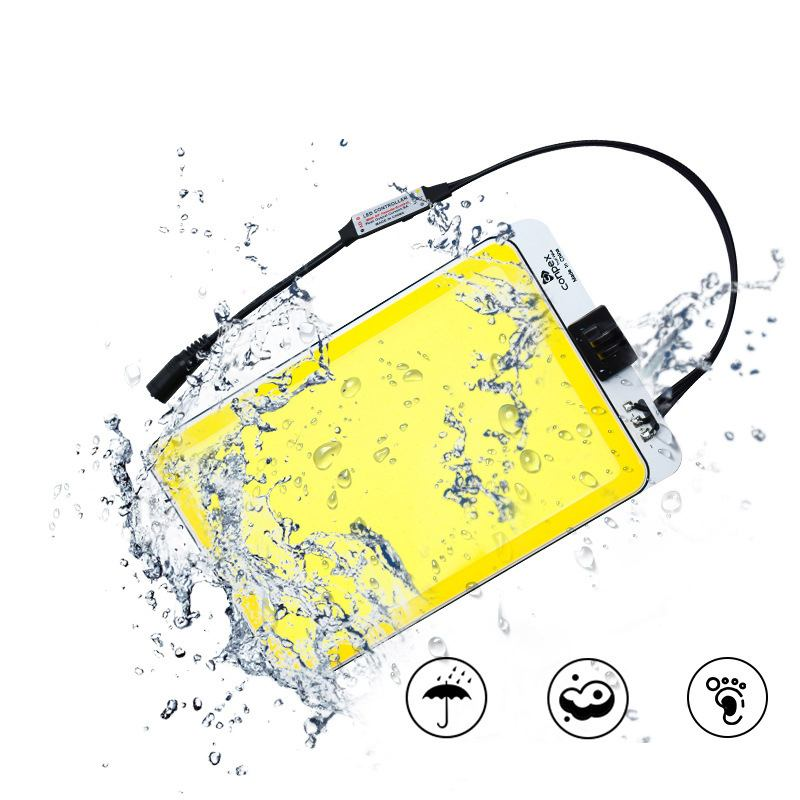 CLAITE Portable 6900LM 1000W LED COB Car Light 3 Modes IP67 Waterproof Camping Night Work Lantern With Sucker Remote Control