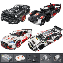 23009 Ford Mustang Hoonicorn RTR V2 Racing Car with power function led light Technic 20102 MOC 22970 building block bricks Kids