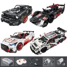 23009 Ford Mustang Hoonicorn RTR V2 araba yarışı güç fonksiyonu ile led ışık teknik 20102 MOC 22970 yapı taşı tuğla çocuklar için