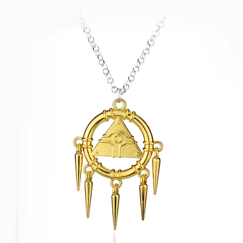 3D Yu-Gi-Oh Necklace Anime Yugioh Millenium Pendant Jewelry Yu Gi Oh Cosplay Pyramid Egyptian Eye Of Horus Necklaces Bijouterie
