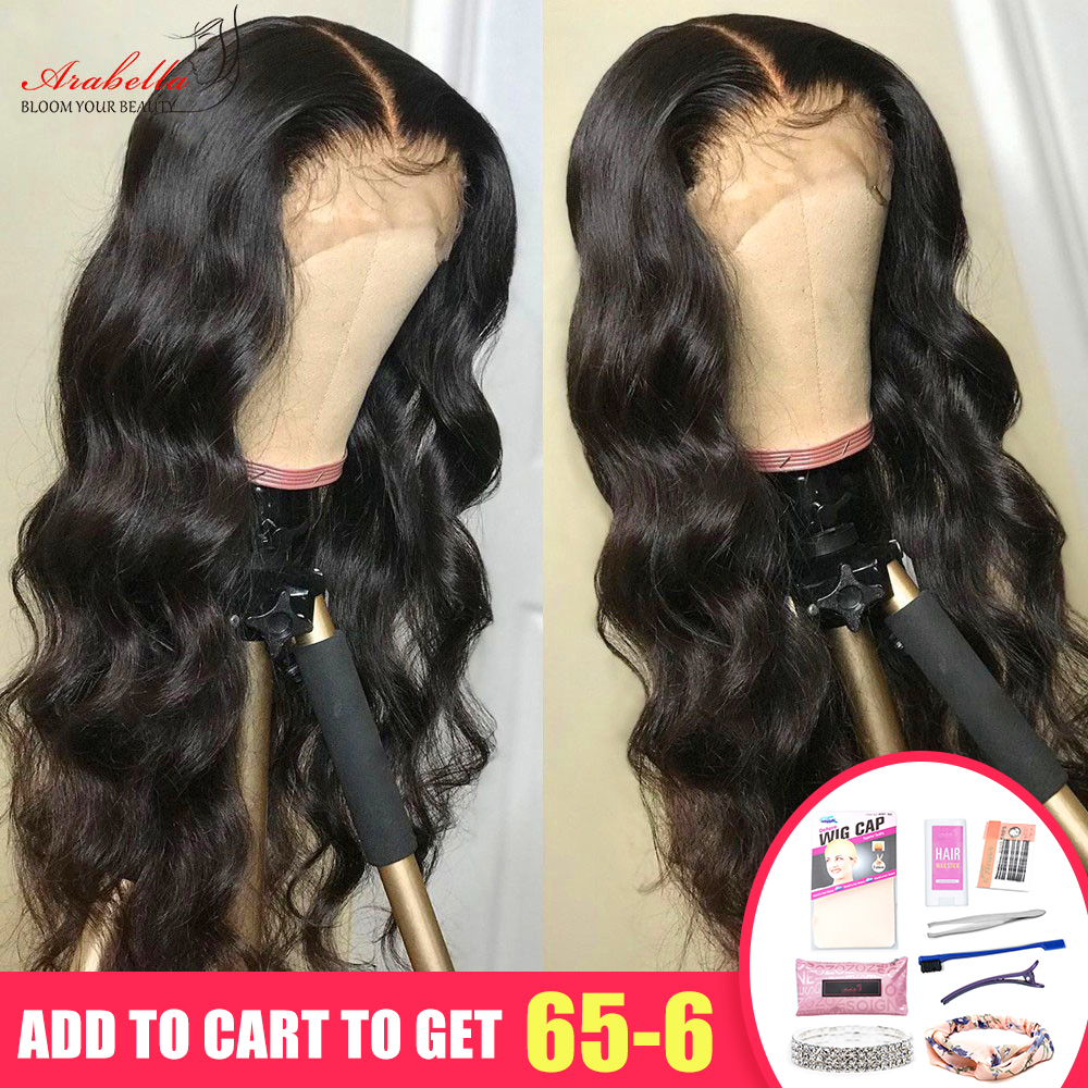 13x4 Lace Front Human Hair Wigs Arabella High Ratio Remy Hair Pre Plucked Bleached Knots Glueless Brazilian Body Wave Lace Front