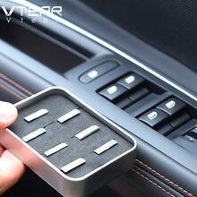Vlarme pour Peugeot 3008 3008GT 5008 Chrome accessoires voiture lève-vitre bouton interrupteur Sequin triminside moulures 2021 2020 2019