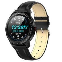 "L9 גברים חכם שעון אק""ג + PPG קצב לב לחץ דם חמצן Tracker Bluetooth שעון IP68 עמיד למים עסקי Smartwatch VS l5"