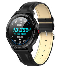 L9 腕時計ecg + ppg心拍数血圧酸素トラッカーのbluetooth腕時計IP68 防水ビジネススマートウォッチvs l5