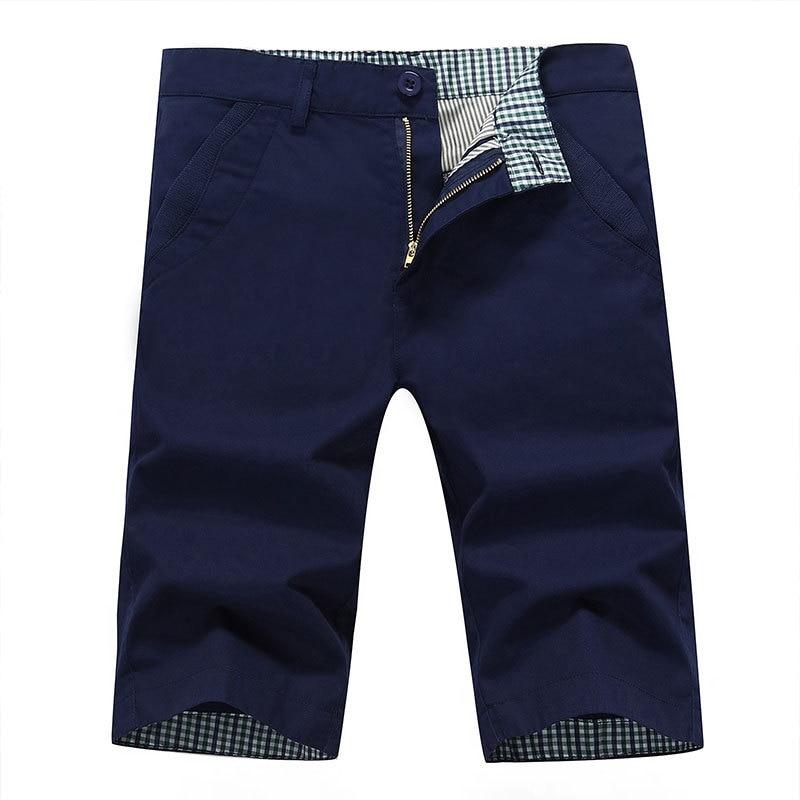 Summer New Style Men Medium Waist Washing Japanese-style Popular Brand Pure Cotton Straight-Cut 5 Pants Youth Large Size Versati
