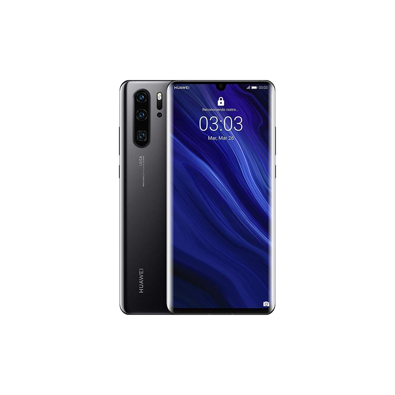Huawei P30 Pro, Black Color (Black), Band 4G, Dual SIM, Internal 128 GB De Memoria, 6 Hard GB RAM, Screen 6.1