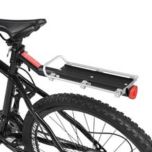 Bicycle Rack Bicycle Luggage Carrier Cargo Rear Rack Reflector Shelf MTB Cargo Seatpost Bag Holder Stand with Light Reflective