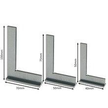 Машинист квадратный 90 градусов прямоугольный инженерный набор с сиденьем прецизионный Заземленный стальной закаленный угол линейка 50x40/75x50/100x70 мм