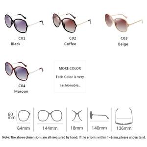 Image 2 - PARZIN 2019 Brand Fashion Big Frame Women Polarized Sunglasses High Quality Vintage Metal Temple Design Sun Glasses