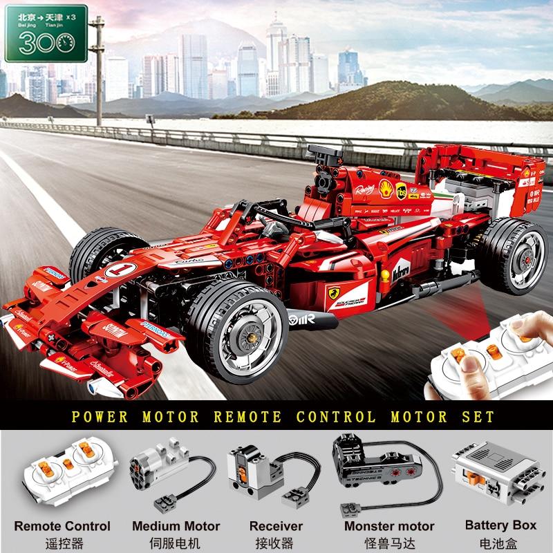 Les voitures de fonction de moteur de voiture de la technique avec le moteur fort F1 vitesse course voiture compatible blocs de construction Kid bricolage jouets