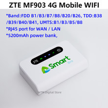 Desbloqueado zte mf903 4g lte roteador bolso móvel wi fi power bank com porta lan rj45 wlan