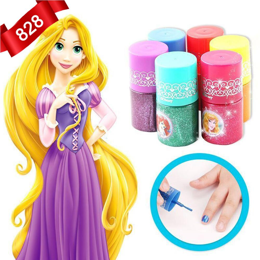 1pc Disney Water-soluble Nail Polish Toys Water Soluble Washable Nail Polish Pretend Play Toys Children Girls Makeup Toy Gift