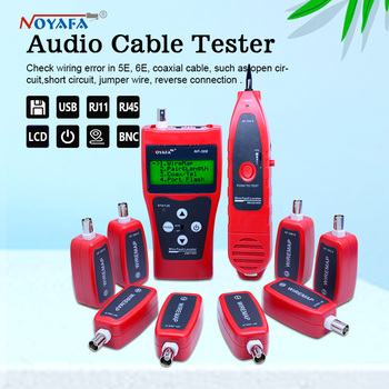 Network cable tester Cable tracker RJ45 cable tester NF-388 English version Audio Cable Tester Red color NF_388 nf 868 digital cable tester tracker for rj45 rj11 anti jamming crosstalk short circuit length tester