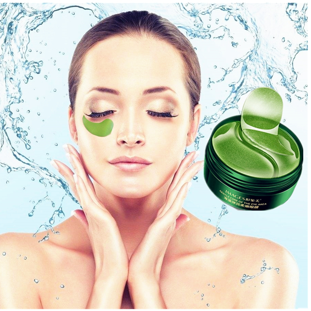 Relieve Eye Pressure Anti-aging Eye Mask Dark Circle Puffiness Seaweed Anti-Aging Firming Skin Care Green Tea Eye Patches 60Pcs