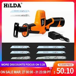 Sierra reciprocante portátil HILDA potente Sierra de corte de madera eléctrica madera/sierras de metal con cuchilla afilada cortador de carpintería