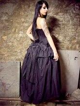 Черные Свадебные платья без бретелек в готическом стиле Многоярусное